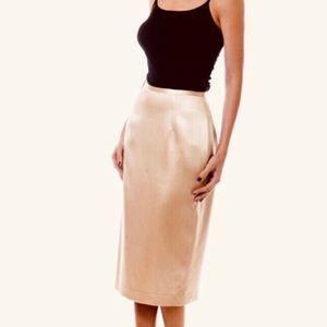 La Perla silk skirt rose-gold